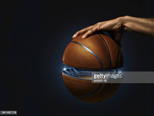 The african man basketball player standing with ball
