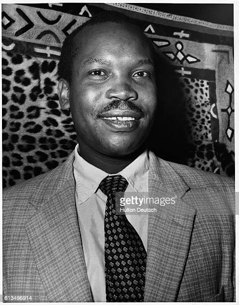 The African politician Sir Seretse Khama at home in Croydon. He was the first President of Botswana after it gained independence in 1966.