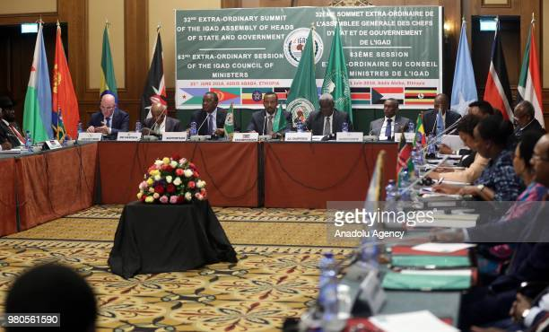 The African Union Commissioner for Peace and Security Smail Chergui the head of the Joint Monitoring and Evaluation Commission and former President...