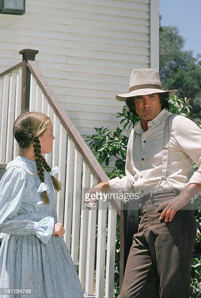 """The Aftermath"""" Episode 8 -- Aired -- Pictured: Melissa Gilbert as Laura Elizabeth Ingalls Wilder, Michael Landon as Charles Philip Ingalls -- Photo..."""