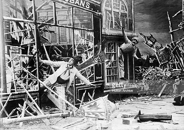 The aftermath of a cyclone is the scene in this early film by the French actor magician designer and theatre manager Georges Melies