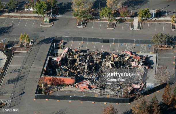 The aftermath of a firestorm that began in Napa Valley's Calistoga destroying thousands of homes in the Coffey Park Fountaingrove Larkfield and Mark...