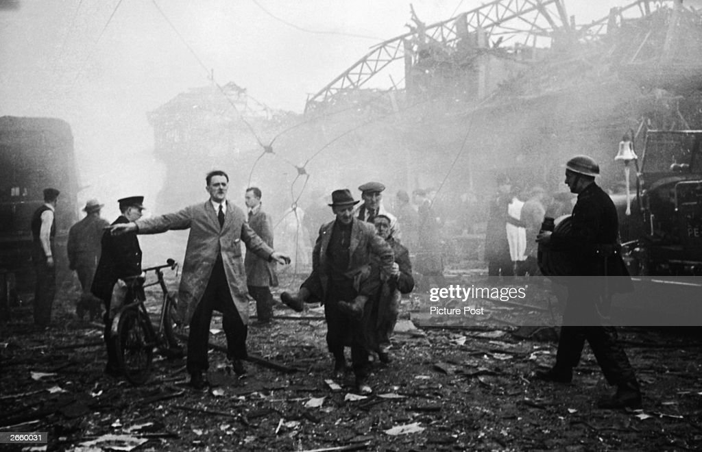 The aftermath of a V-2 rocket explosion in Farringdon Market, which killed 380 people. Original Publication: Picture Post - 1967 - One Story We Couldn't Tell - pub. 2 October 1948