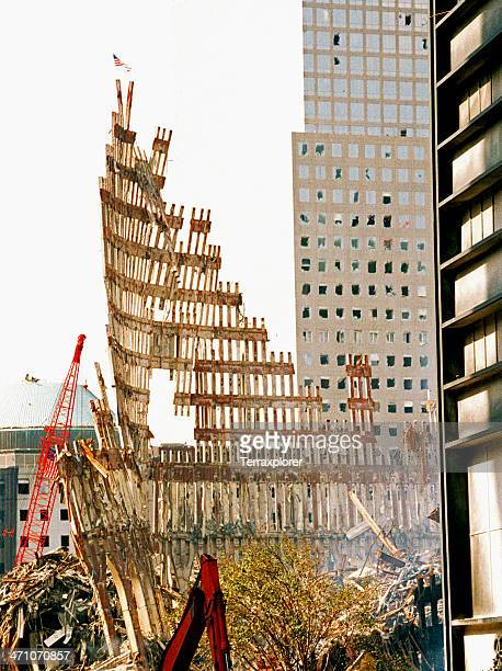 The aftermath of destruction on the World Trade Center NY