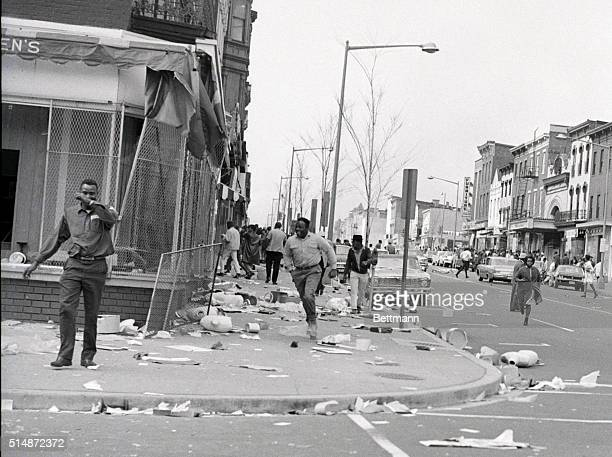 The aftermath of riots in Washington DC after the assassination of Martin Luther King Jr