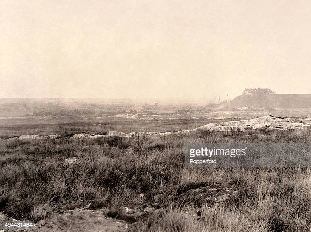 The aftermath of the Battle of Loos on the Western Front during World War One circa 1918 The Western Front was a meandering line of fortified...