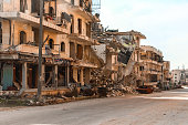 The aftermath of the war in Aleppo Syria