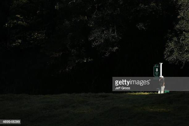 The afternoon light shines on the 8th hole tee box in the second round of the Northern Trust Open at the Riviera Country Club on February 14 2014 in...