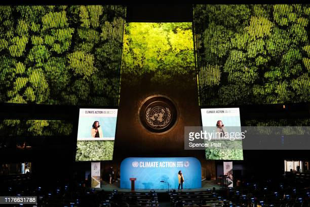 The afternoon session of the United Nations summit on climate change begins September 23, 2019 in New York City. While the U.S. Will not be...