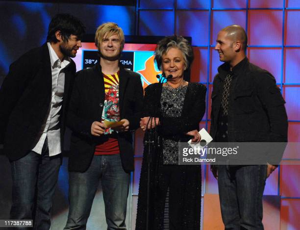 The Afters and Joanne Cash during 38th Annual GMA DOVE Awards - Pre Show at Grand Old Opry in Nashville, Tennessee, United States.