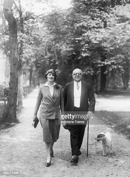 The Aga Khan And His Fiancee Andree Carron In Nice In 1929
