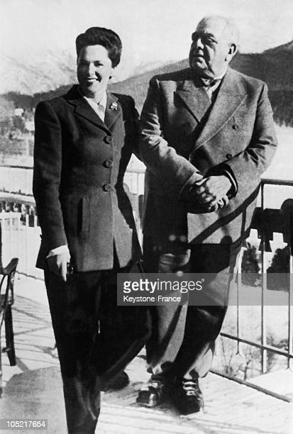 The Aga Khan And The Begum Yvette Labrousse In 1945