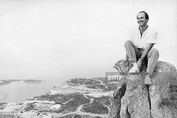 The Aga Khan on Sardinia with his development Costa Smerelda in the background on 1st August 1967