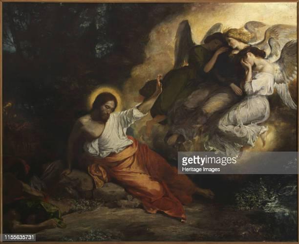 The Agony in the Garden, 1826. Found in the Collection of Église Saint-Paul-Saint-Louis, Paris. Artist Delacroix, Eugène .