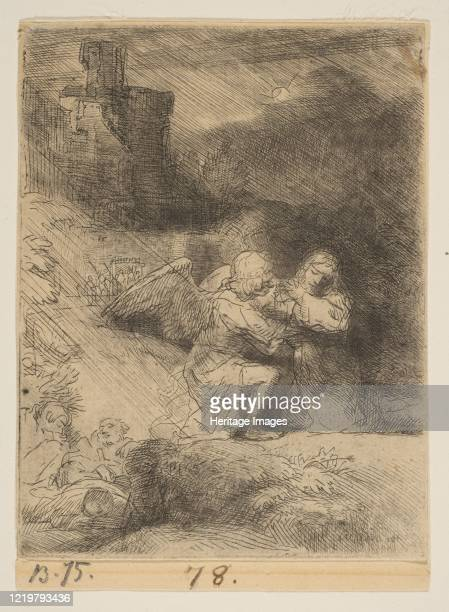 The Agony in the Garden circa 1652 Artist Rembrandt Harmensz van Rijn