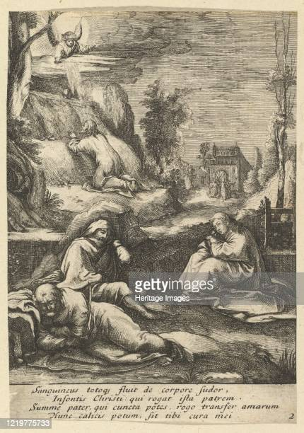 The Agony in the Garden from The Passion of Christ mid 17th century Artist Nicolas Cochin