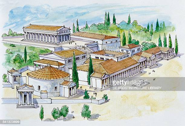 The agora of Athens drawing Greek civilisation