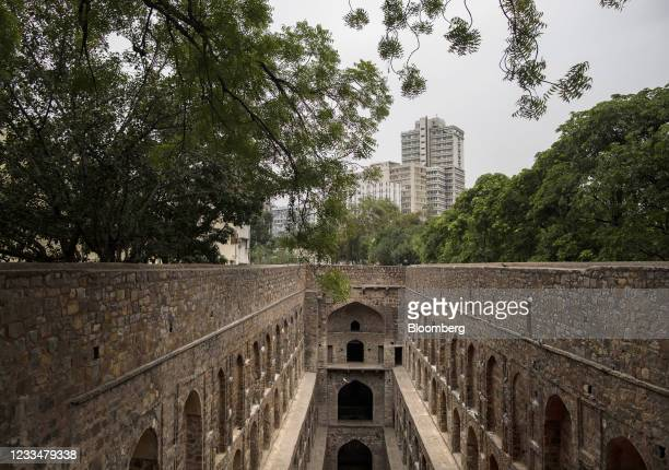 The Agrasen ki baoli monument as lockdown restrictions are eased in New Delhi, India, on Wednesday, June 16, 2021. Newdaily infectionsare now down...