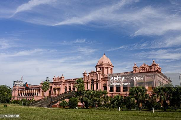 The Ahsan Manjil is situated in Kumartoli on the banks of the Buriganga river in Dhaka Bangladesh It was the residential palace and court of the...