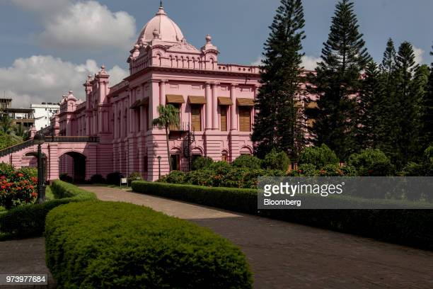 The Ahsan Manzil the former official residential palace and seat of the Nawab of Dhaka stands in Dhaka Bangladesh on Wednesday June 6 2018 The...