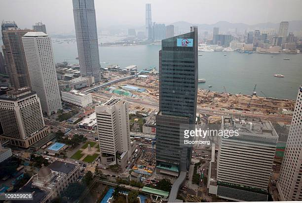 The AIA Central tower home to the headquarters of AIA Group Ltd stands in the central district of Hong Kong China on Wednesday Feb 23 2011 The AIA...