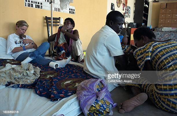 The Aids Epidemic In West Africa. Le Centre de l'Espoir fondé par Lotti LATROUS, dans le bidonville d'ADJOUFFOU aux portes d'Abidjan, en...