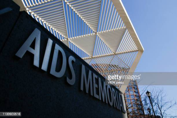 The AIDS memorial is pictured on February 25 2019 in Manhattan New York A second patient have been cured of infection with HIV the virus that causes...