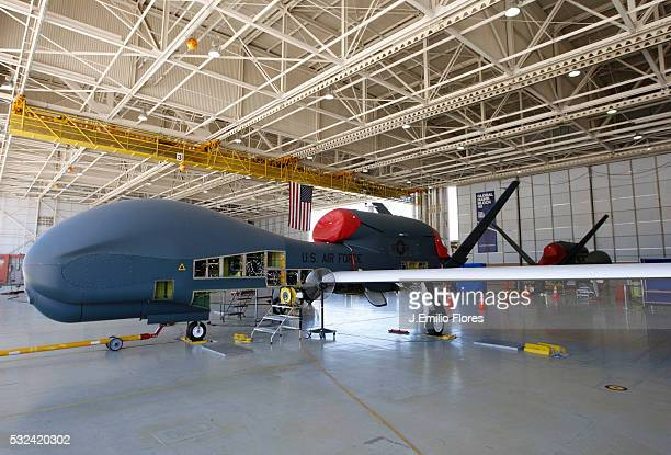 CA090711 The Air Force's Global Hawk surveillance plane at Northrop Grumman assembly plant in Palmdale Calif The unmanned plane is set to replace the...