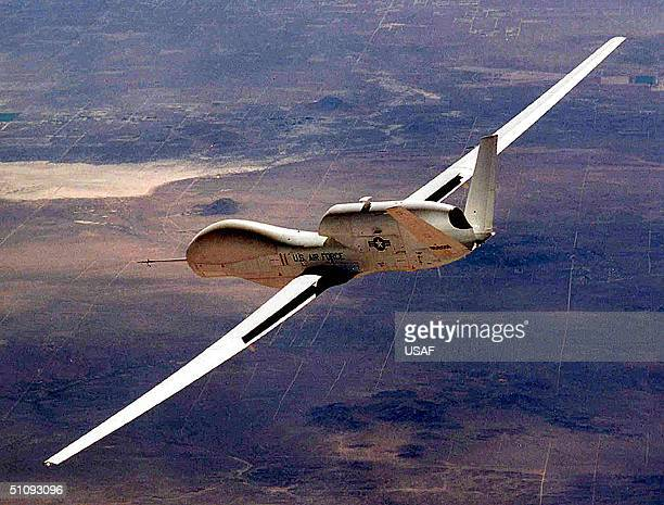 The Air Force's Global Hawk Unmanned Aerial Vehicle Makes Aerospace History As The First Uav To Fly Unrefueled 7500 Miles Across The Pacific Ocean...