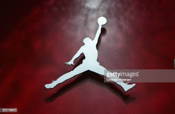 The Air Jordan logo at the Air Jordan XX Launch Party at Rise Nightclub on February 18 2005 in Denver Colorado
