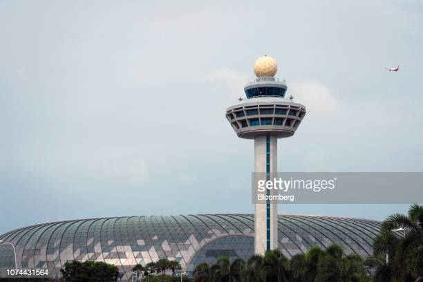 The air traffic control tower stands at Changi Airport in Singapore on Thursday Dec 13 2018 Singapore'sChangiAirport votedtheworld's bestfor the...