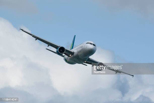 The Airbus A320 during the 2019 Bray Air Display in Bray Ireland on July 28 2019