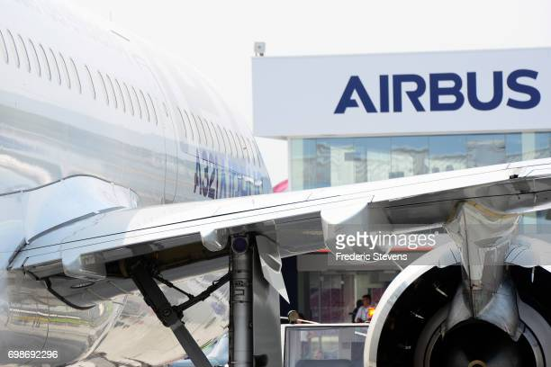 The Airbus A321 Neo is exhibited during the 52nd Paris Air Show at Le Bourget on June 20 2017 in Le Bourget France The Air Show is the world's...