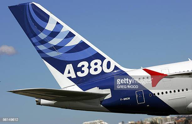 The Airbus A380 is seen after touching down at Sydney Airport, 13 November 2005. The Airbus A380 the world's largest passenger jet arrived in Sydney...