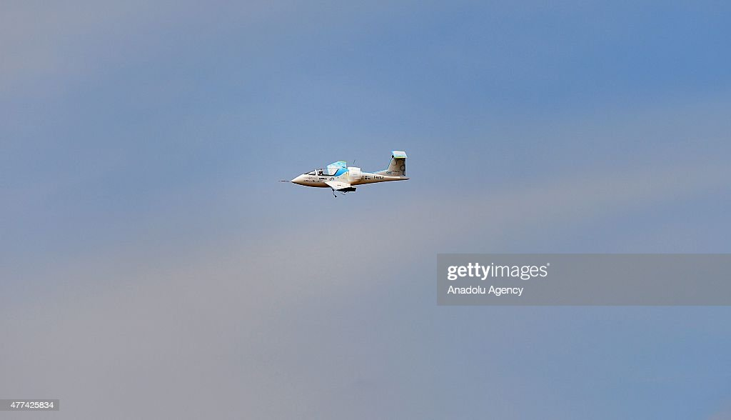 The Airbus E-Fan electric aircraft performs an aerial demonstration during the 51st international Paris Air Show at Le Bourget, near Paris, France on June 17, 2015.