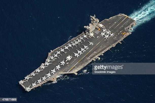 The aircraft carrier USS Dwight D. Eisenhower.