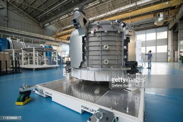 The Airlock commercial space envelope within the Thales Alenia Space company during the press presentation for the International Space Station at...