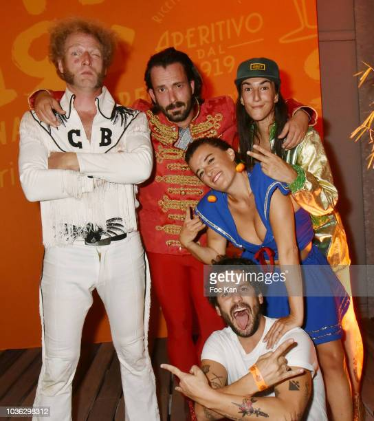 The Airnadette Band Chateau Brutal Moche Pitt MRodz Scotch BritÊand Gunther Love attend during the Spritz Plazza Party at the 118 Warner on September...