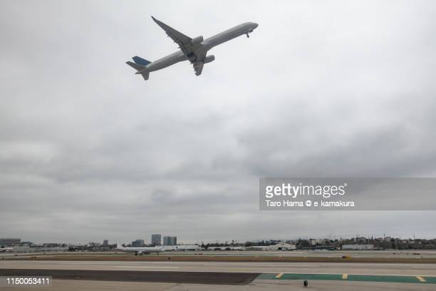 The airplane taking off Los Angeles International Airport (LAX) in California