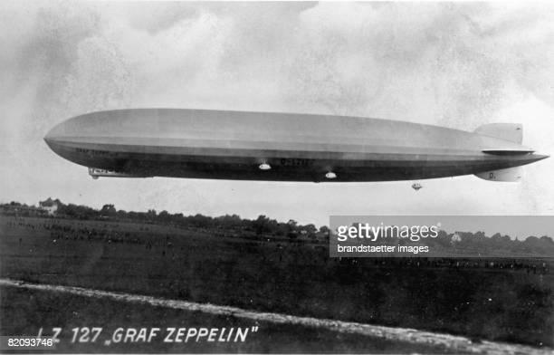 The airship LZ 127 'Graf Zeppelin' Photograph 1928 [Das Luftschiff LZ 127 'Graf Zeppelin' Photographie 1928]