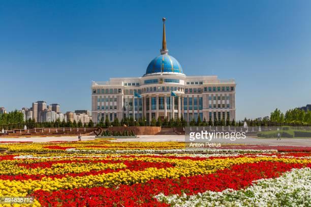 the ak orda presidential palace, kazakhstan, astana - anton petrus stock pictures, royalty-free photos & images