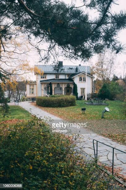 the akseli gallen-kallela museum. near helsinki. - espoo stock pictures, royalty-free photos & images