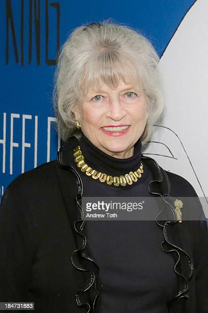 The Al Hirschfeld Foundation President Louise Kerz Hirschfeld attends the VIP reception of The Line King Al Hirschfeld At The New York Public Library...