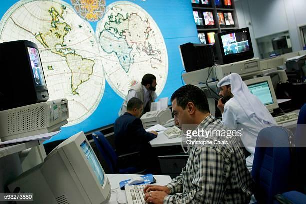The Al Jazeera satellite channel newsroom