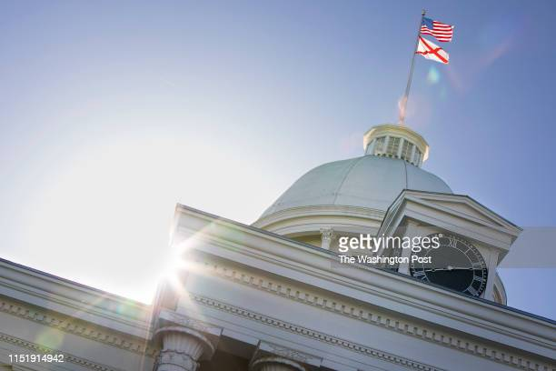 The Alabama State Capitol building is seen on Tuesday, May 14, 2019 in Montgomery, AL. The Alabama state Senate is elected to vote today on a bill...