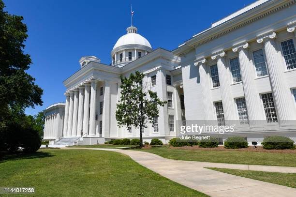 The Alabama State Capitol stands on May 15, 2019 in Montgomery, Alabama. Today Alabama Gov. Kay Ivey signed a near-total ban on abortion into state...
