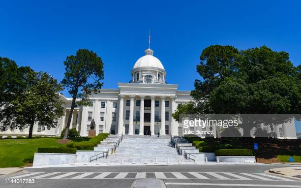 The Alabama State Capitol stands on May 15 2019 in Montgomery Alabama Today Alabama Gov Kay Ivey signed a neartotal ban on abortion into state law