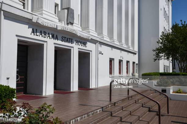 The Alabama Statehouse stands on May 15 2019 in Montgomery Alabama Today Alabama Gov Kay Ivey signed a neartotal ban on abortion into state law