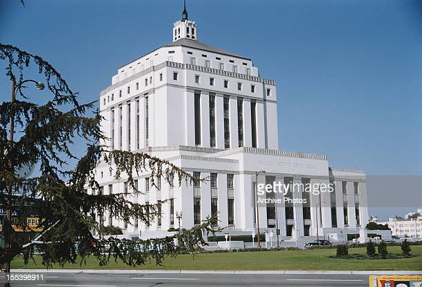 The Alameda County Courthouse, seat of the Alameda County Superior Court in Oakland, California, August 1959.