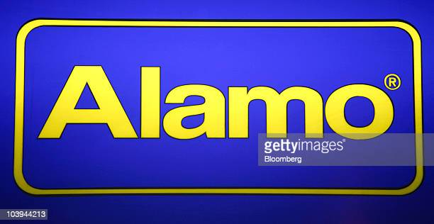 The Alamo Rent A Car LLC Vehicle Rental Logo Is Seen In Arlington Virginia US On